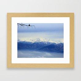 Alps scenary from superga Framed Art Print