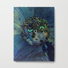 Moon Bug Glow in a Bucket by CheyAnne Sexton Metal Print