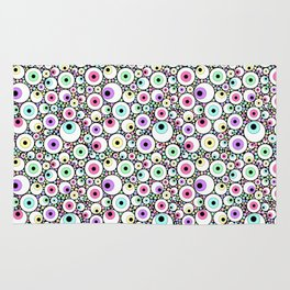 Candy Pastel Eyeball Pattern Rug