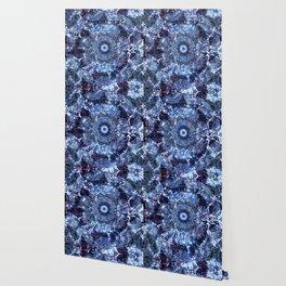 Iris Mandala Blue Wallpaper