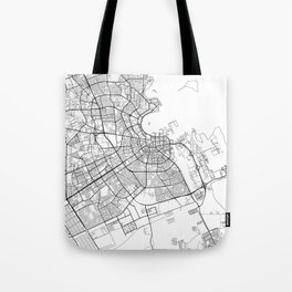 Doha Map White Tote Bag