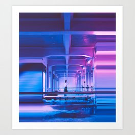 Glitchy Dreams Of You Art Print