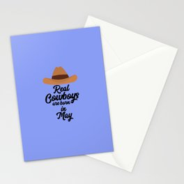 Real Cowboys are bon in May T-Shirt D11vb Stationery Cards
