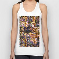 lindsay lohan Tank Tops featuring Lindsay-Alice-Court-Glitch by Peter Marsh