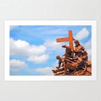 Crucified Art Print