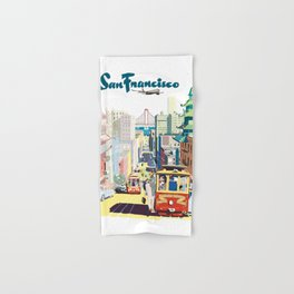 Sanfrancisco vintage mode Hand & Bath Towel