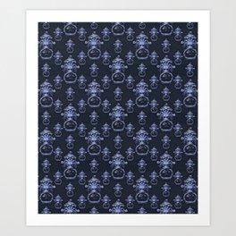 Lyon Head Ornate Motif Pattern Art Print