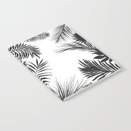 Black And White Palm Leaves Notebook