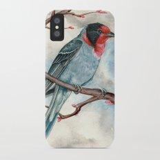 Red Faced Warbler iPhone X Slim Case