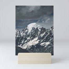 Mountains of Georgia || Peaks || Caucasus || Snowy Tops || Madara Travels Mini Art Print