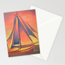 Sienna Sails at Sunset Stationery Cards