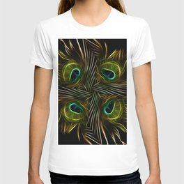 Fractal peacock feathers T-shirt