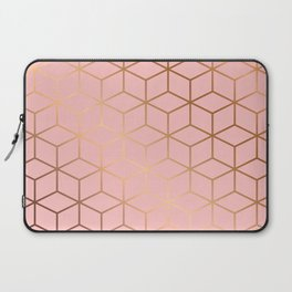 Pink and Gold Geometry 011 Laptop Sleeve