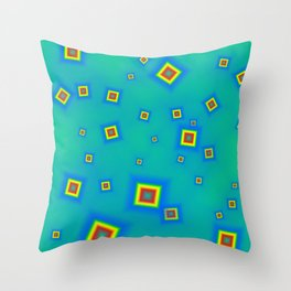 Pattern of disorganized multicolored paintings Throw Pillow