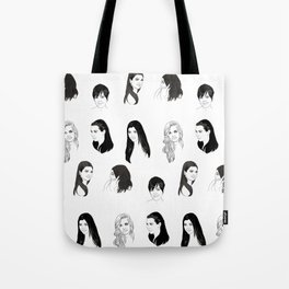 Keeping Up (Black and White) Tote Bag