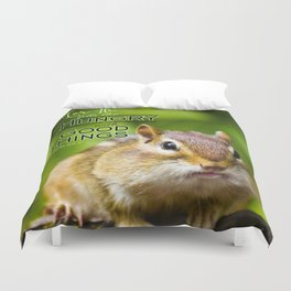 He Fills the Hungry- Psalm 107:9 Duvet Cover
