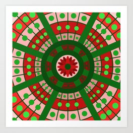 Complimentary & Symmetry - Red and Green Art Print