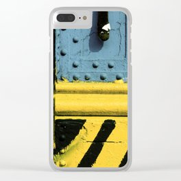 Abstract Art Design on Steel Beam Clear iPhone Case