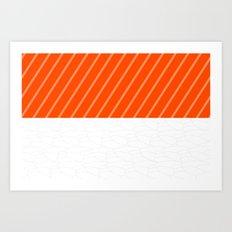 Simple Salmon Sushi Art Print