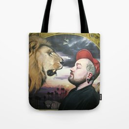 In the Midst of Lions Tote Bag