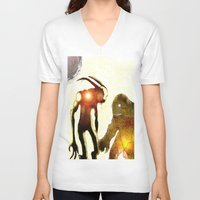 monsters V-neck T-shirts featuring Monsters by Joe Ganech