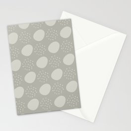 Abstract Dots in Stone Stationery Cards