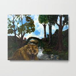 The Jaguar Guardian Metal Print