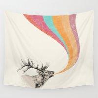 elk Wall Tapestries featuring Elk Song by Zeke Tucker