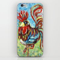 cock iPhone & iPod Skins featuring COCK STRUT by RaE Bright
