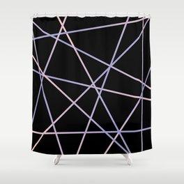 Rose Quartz & Serenity on Black Shower Curtain