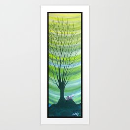 Happy Critter Tree no. 6 Art Print