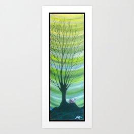 Happy Critter Tree no. 6 Art Print