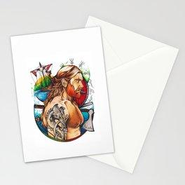 Viking warrior Stationery Cards