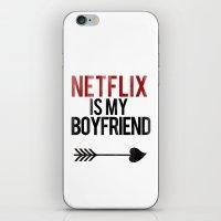 netflix iPhone & iPod Skins featuring Netflix is my Boyfriend by RexLambo