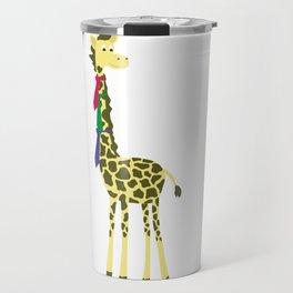 Giraffes spend a lot on ties... Travel Mug
