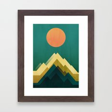 Gold Peak Framed Art Print