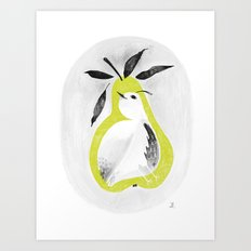 A partridge in pear tree Art Print