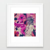 fringe Framed Art Prints featuring Fringe by Annaleigh Louise