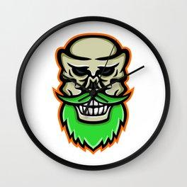 Bearded Skull or Cranium Mascot Wall Clock