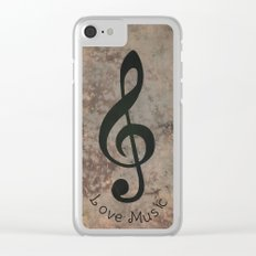 Music-122 Clear iPhone Case
