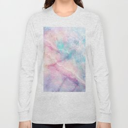 Iridescent marble Long Sleeve T-shirt