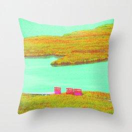 Outerbanks, NC sound and kayaks Throw Pillow