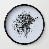 leo Wall Clocks featuring Leo by Daniac Design