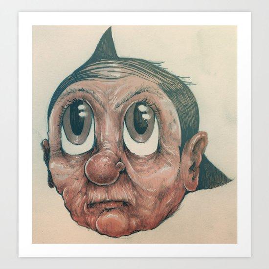 Astro Old Man Art Print