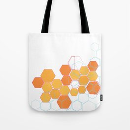 Mosaic orange Tote Bag