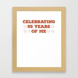 Celebrating 55 Years Of Me (Red) Framed Art Print