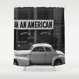I Am An American Photo Dorothea Lange Shower Curtain
