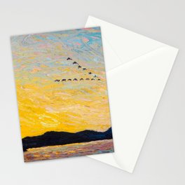 Tom Thomson - Round Lake, Mud Bay  - Canada, Canadian Oil Painting - Group of Seven Stationery Cards