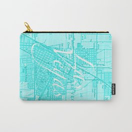 Vintage Las Vegas Aqua Carry-All Pouch