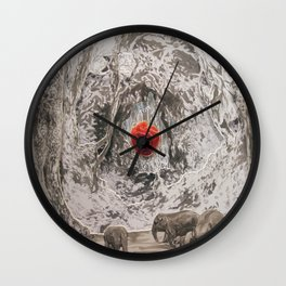 "FOREST DIORAMA ""I AM AN ANIMAL. MY HEART IS A JUNGLE"" / DETAIL Wall Clock"